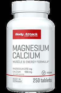 Bilde av Body Attack Magnesium Calcium 250 Tabletter